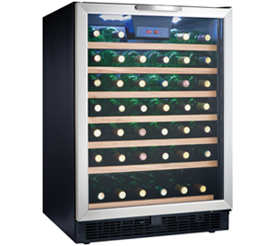Danby Designer 50 Bottle Wine Cooler - DWC508BLS