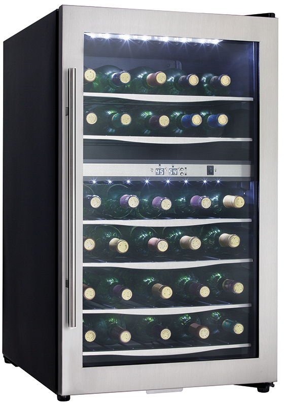 Danby Designer 38 Bottle Wine Cooler - DWC040A3BSSDD