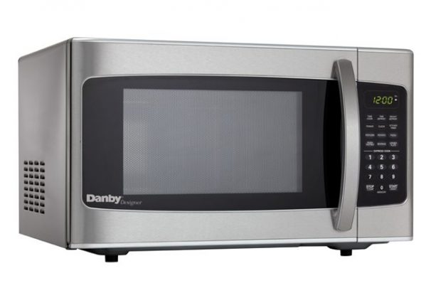 Danby Designer 1.1 cu. ft. Stainless Steel Microwave with Convenience Cooking Controls - DMW111KSSDD