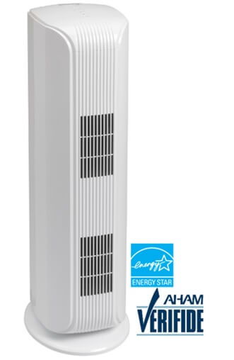 DANBY Air Purifier Tower for Homes and Offices up to 188 sq. ft., True HEPA filter, UV-C with Photo-Catalyst filters, Cleans up 99.97% of Particles, Smoke, Dust, Pollens, Dander's, 121 CADR, 247 CFM - DAP120BBWDB