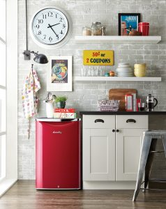 Red 4.4 cu. ft. Contemporary Classic Mini Fridge