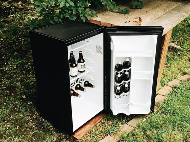 mini bar fridge outside