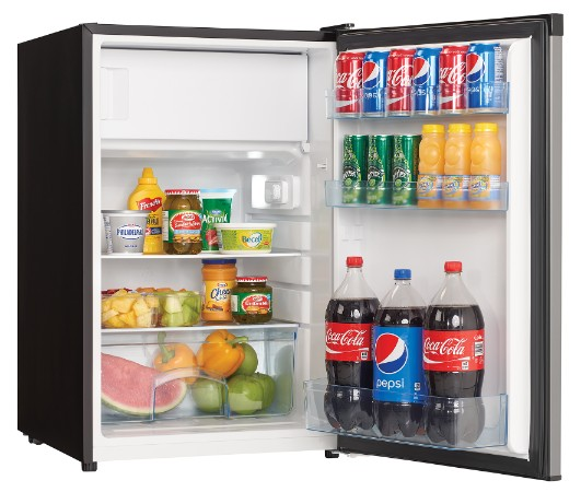View Image Gallery. Danby 4.5 Cu. Ft. Compact Refrigerator With True  Freezer   DCR045B1BSLDB  ...