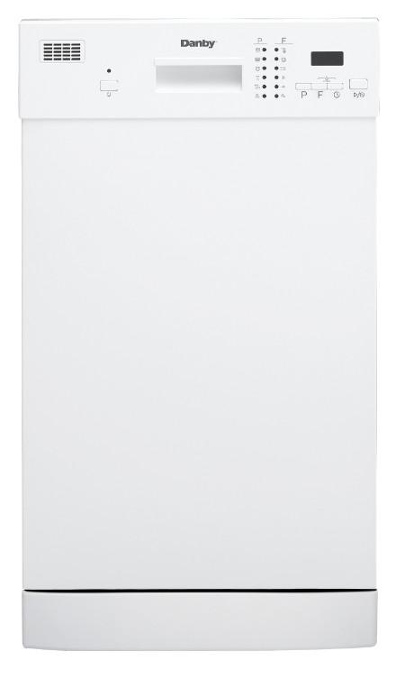 "Danby 18"" White Built-In Dishwasher - DDW1804EW"