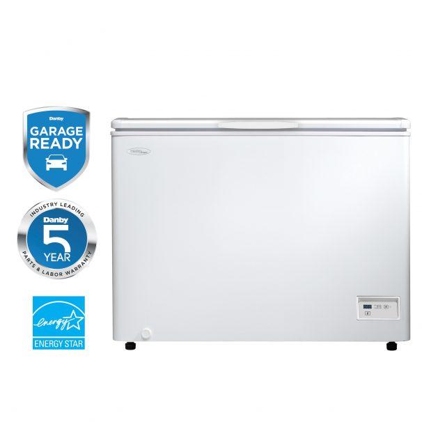 10.8  cu ft white chest freezer - DCFM108A1WDD