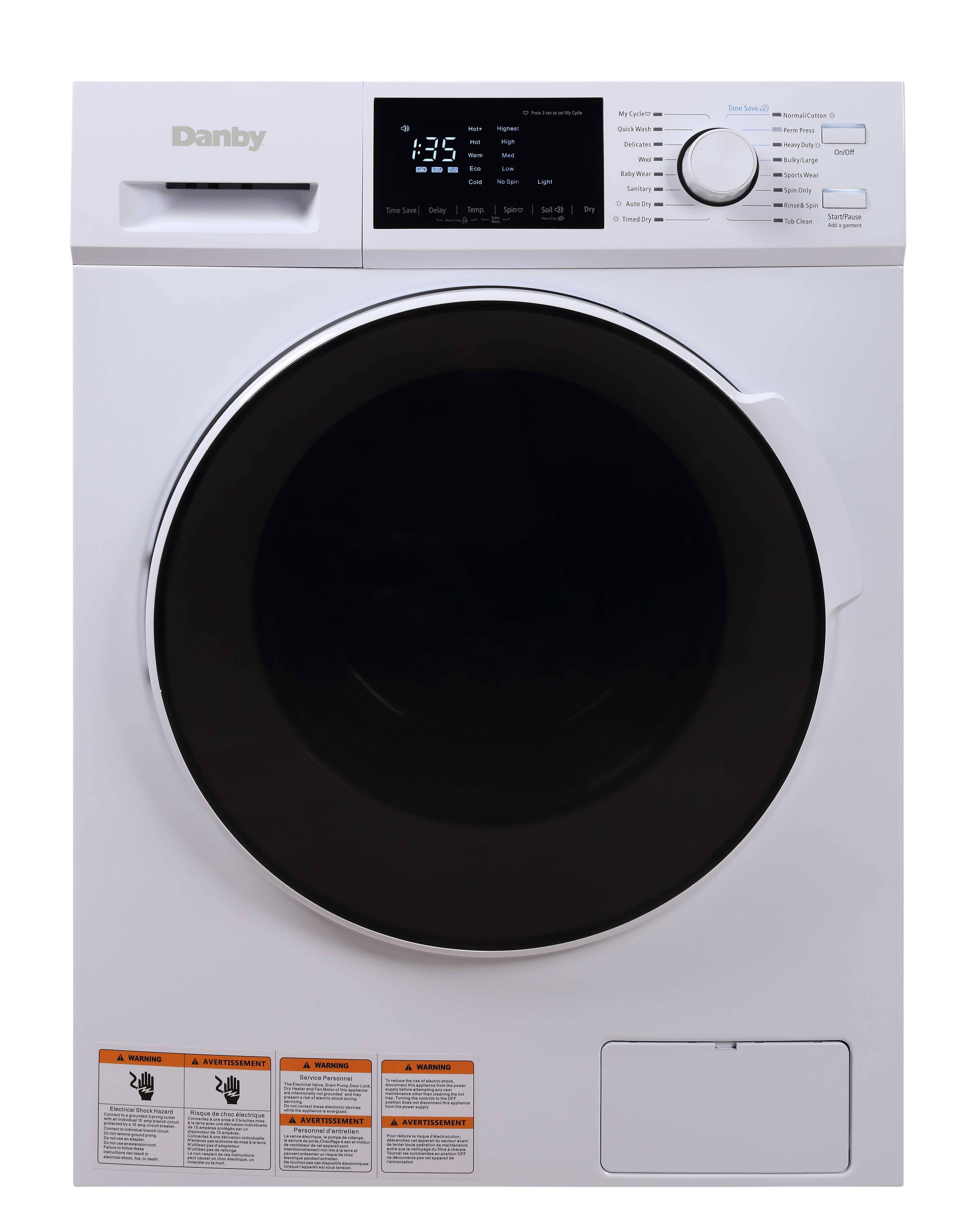 DWM120WDB-3   Danby 2.7 cu. ft. All-In-One Ventless Washer ...