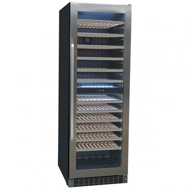 Danby 135 Bottle French Door Freestanding, Dual Zone Wine Cooler in Stainless Steel - DWC398KD1BSS