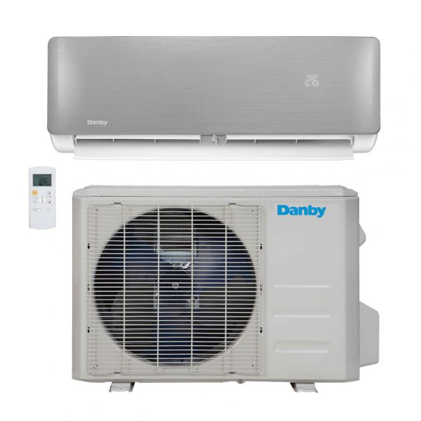 Danby 12,000 BTU Mini-Split Air Conditioner with Heat pump and variable speed inverter  - DAS120BAHWDB