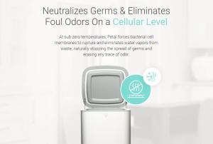The zero-odor germ-freezing waste bin