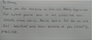 Thank You Letter from Student