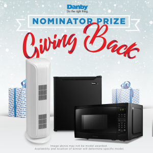 Danby Air Purifier, Mini Fridge, and Microwave
