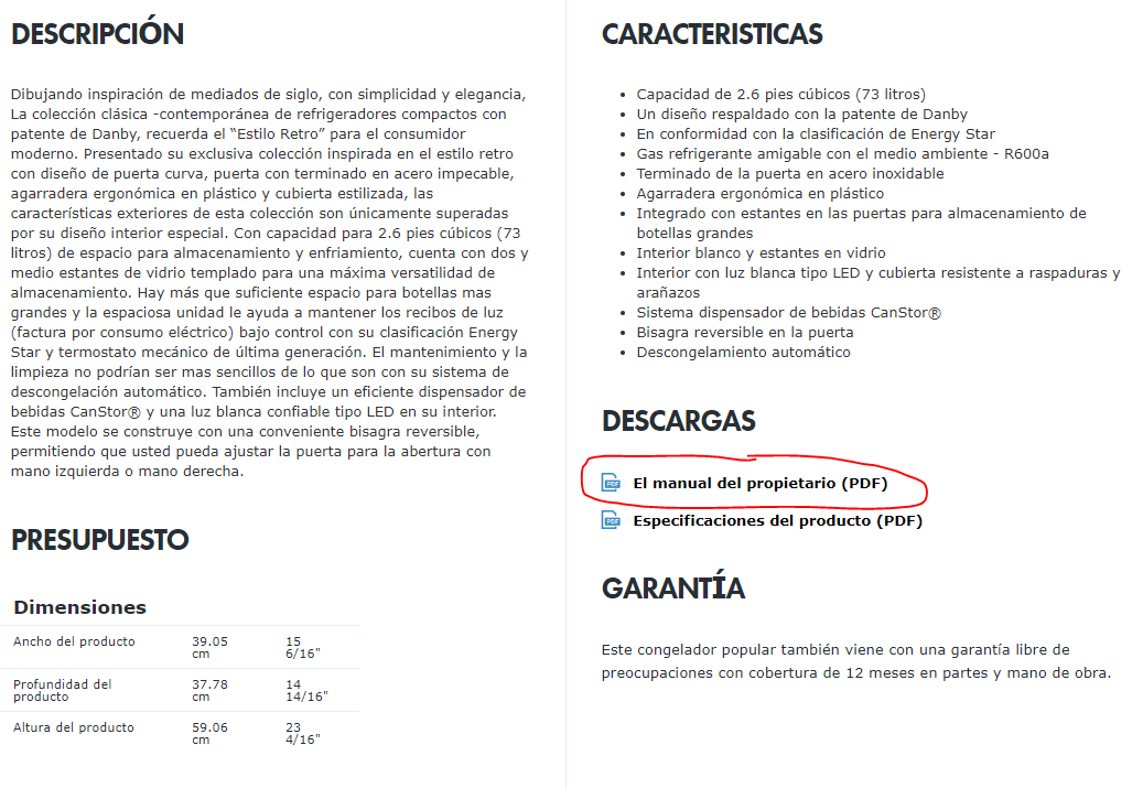 spanish manual lookup example