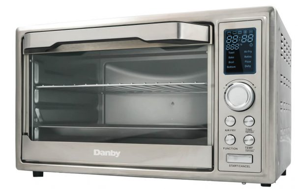 Danby 0.9 cu ft/25L Convection Toaster Oven with Air Fry Technology, Digital LCD Display - DBTO0961ABSS