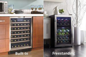 Built-in versus Freestanding Refrigerator