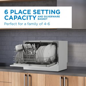 Danby counter-top dishwasher with 6 place settings capacity