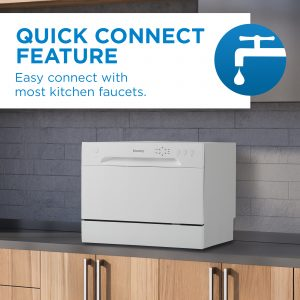 Danby counter-top dishwasher with quick connect