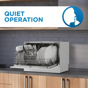 Danby counter-top dishwashers are quiet while operating