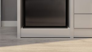 Danby Compact Fridge in Cabinet