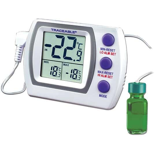Traceable Jumbo Refrigerator /Freezer Thermometer with Calibration: 1 Bottle Probe - TMD