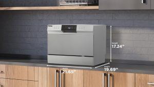 Dimensions du lave-vaisselle de comptoir Danby 6 couverts