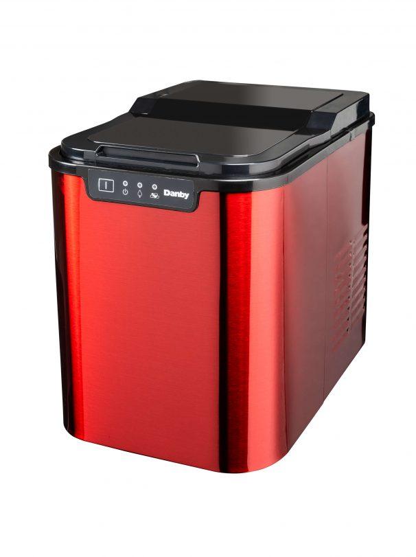 Danby 2lb Red Stainless Steel Ice Maker - DIM2500RDB